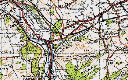 Old map of Nantgarw in 1947