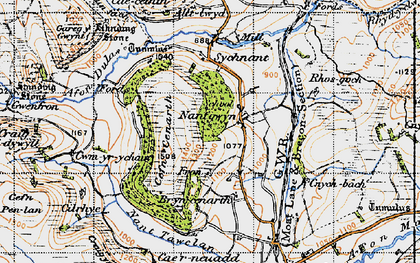 Old map of Alltlwyd in 1947