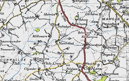 Old map of Nantithet in 1946