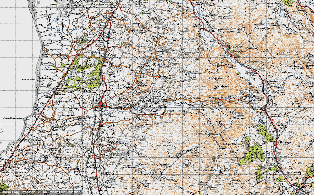 Old Map of Nantlle, 1947 in 1947