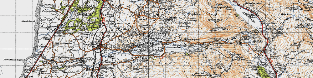 Old map of Nantlle in 1947