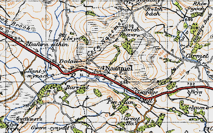 Old map of Yr Onnen in 1947