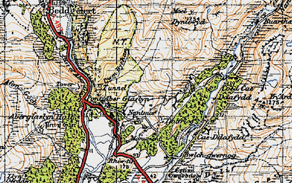 Old map of Cwm Bychan in 1947