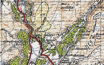 Old map of Yr Arddu in 1947