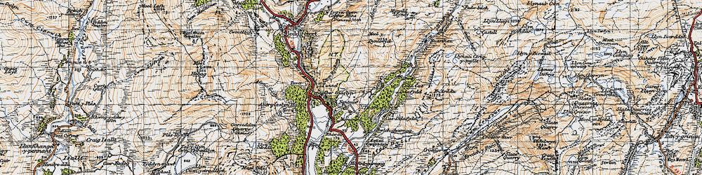 Old map of Nantmor in 1947
