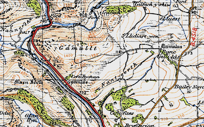 Old map of Yr Wylorn in 1947