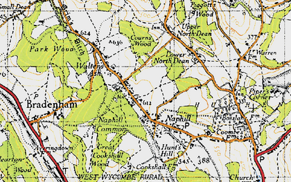 Old map of Naphill in 1947