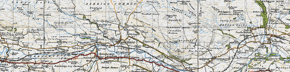 Old map of Whirley Gill in 1947
