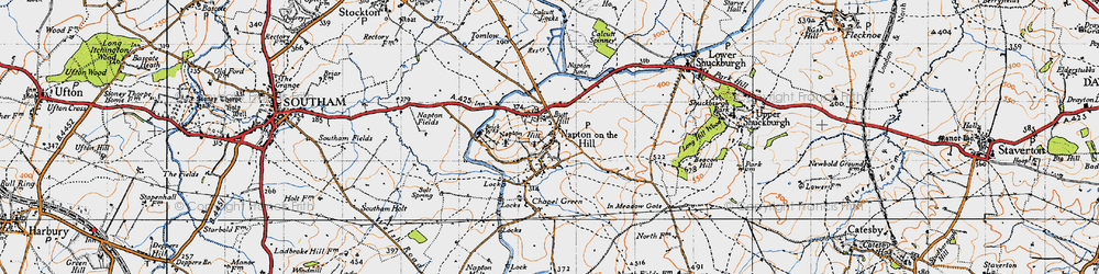 Old map of Napton on the Hill in 1946