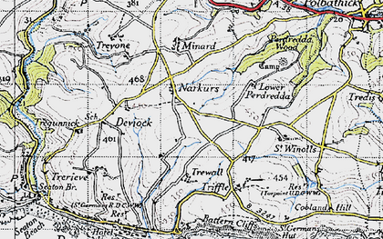 Old map of Narkurs in 1946