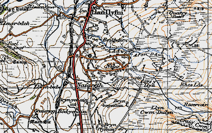 Old map of Afon Ddu in 1947