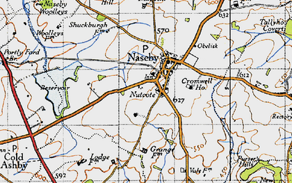 Old map of Naseby in 1946