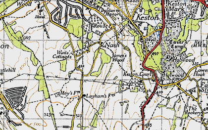 Old map of Nash in 1946