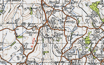 Old map of Nash in 1947