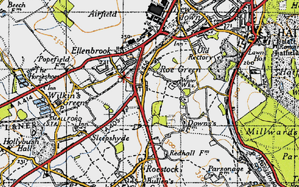 Old map of Nast Hyde in 1946