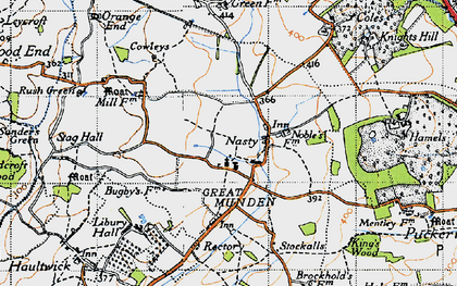 Old map of Nasty in 1946