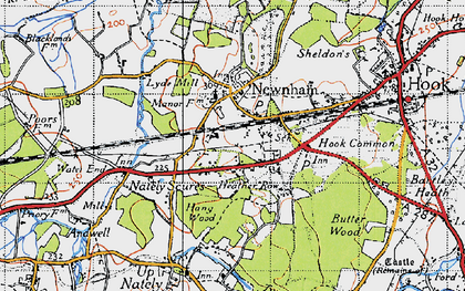 Old map of Nately Scures in 1940