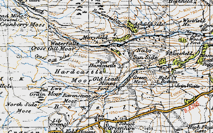 Old map of Ashfold Side Beck in 1947