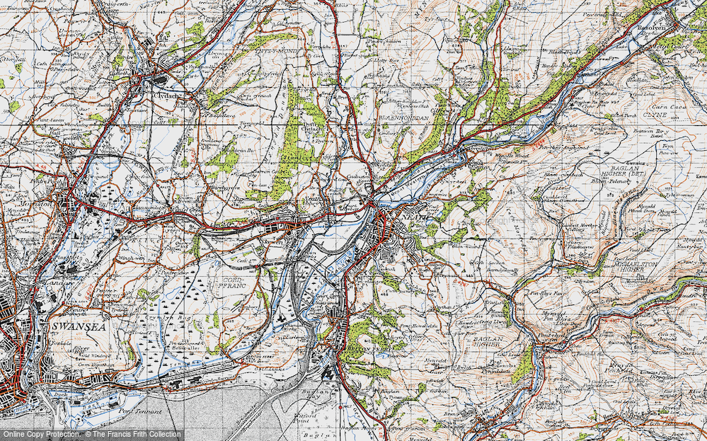 Old Map of Neath, 1947 in 1947