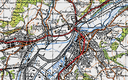 Old map of Neath in 1947