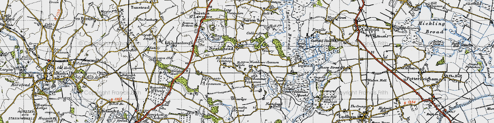 Old map of Neatishead in 1945