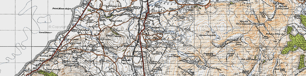 Old map of Nebo in 1947