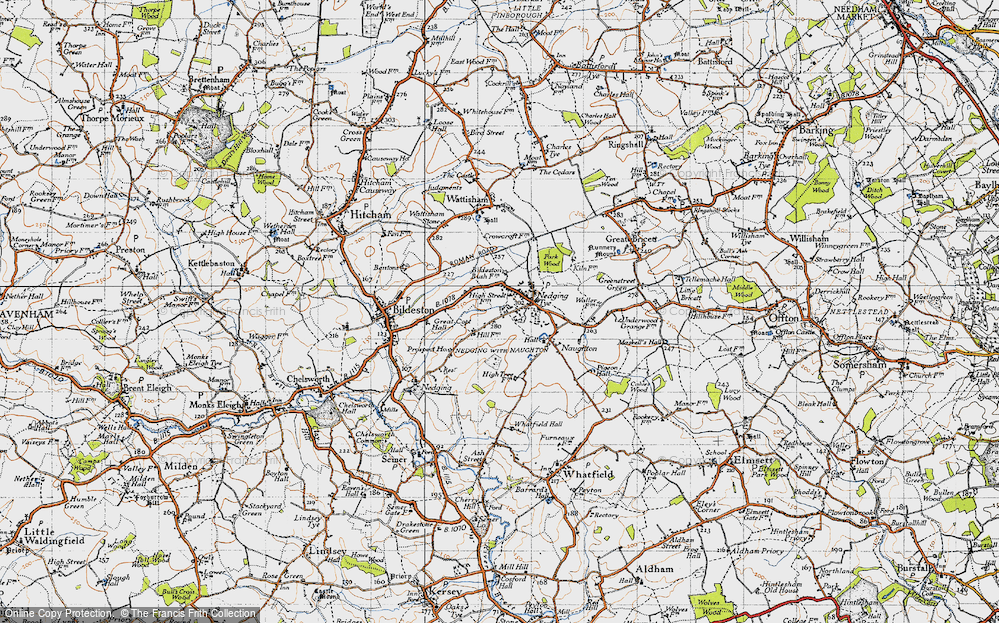 Old Map of Nedging Tye, 1946 in 1946
