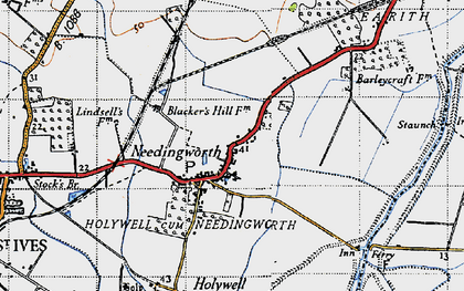 Old map of Needingworth in 1946