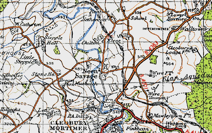 Old map of Wyre Common in 1947
