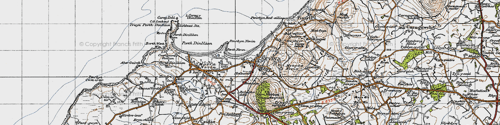 Old map of Tir Bach in 1947