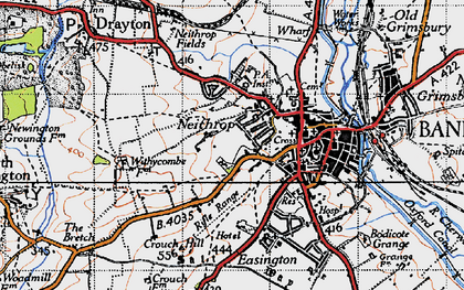 Old map of Withycombe Farm Ho in 1946