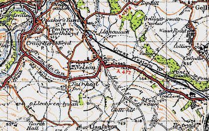 Old map of Nelson in 1947