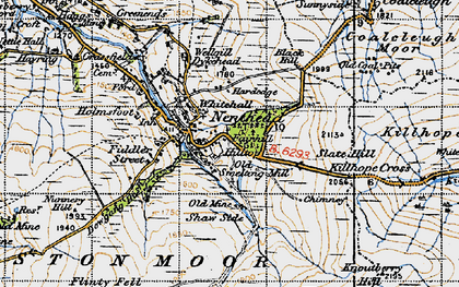 Old map of Nenthead in 1947