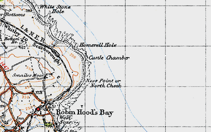 Old map of White Stone Hole in 1947