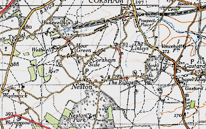 Old map of Neston in 1946