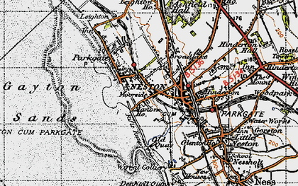 Old map of Neston in 1947