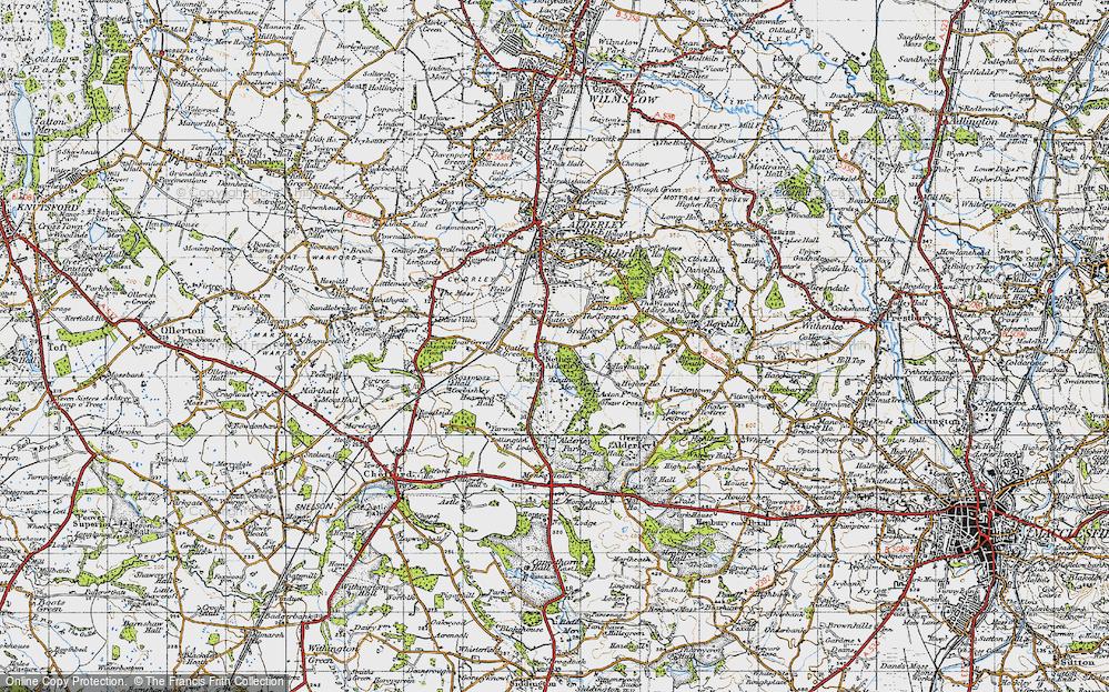 Old Map of Nether Alderley, 1947 in 1947