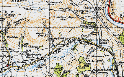 Old map of Back Tor in 1947