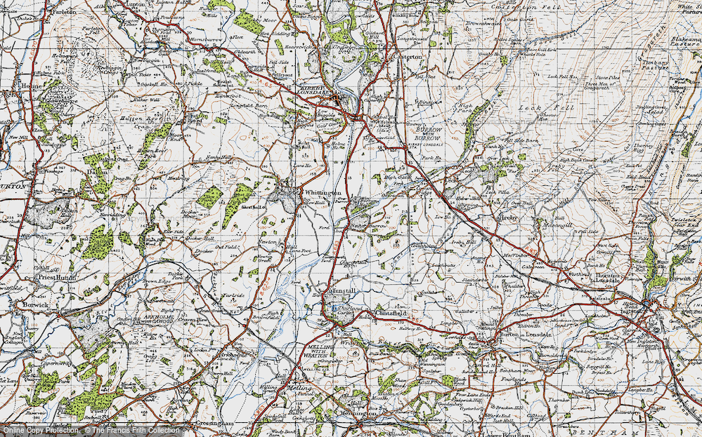 Old Map of Nether Burrow, 1947 in 1947