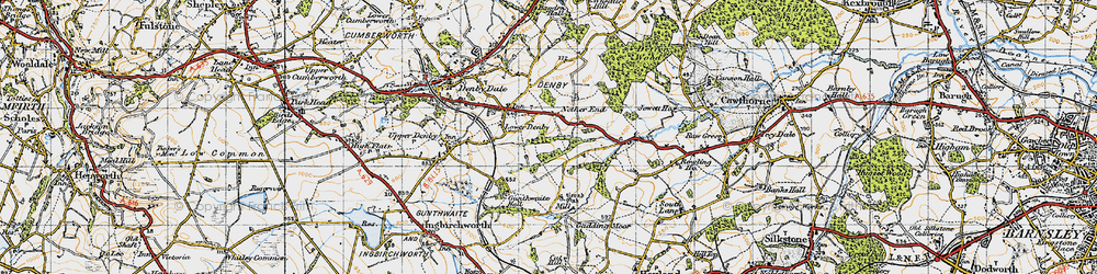 Old map of Ackin Royd in 1947