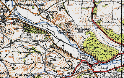 Old map of Whitterleys, The in 1947