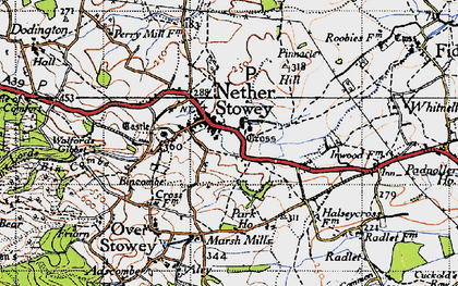 Old map of Nether Stowey in 1946