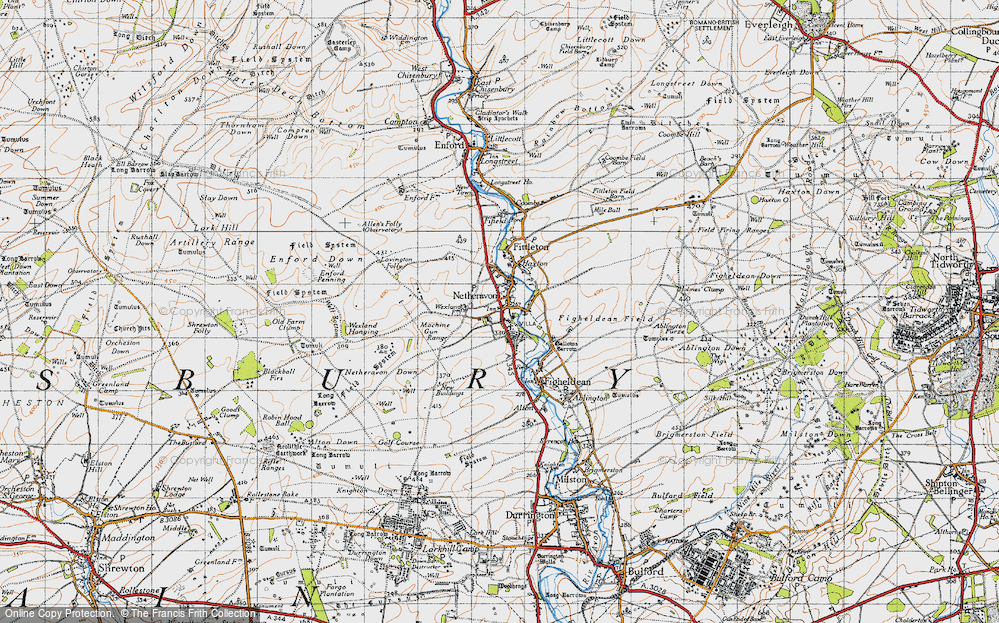Old Map of Netheravon, 1940 in 1940