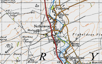 Old map of Netheravon in 1940