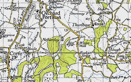 Old map of Witch Lodge in 1946
