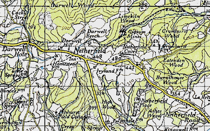Old map of Atkins Wood in 1940