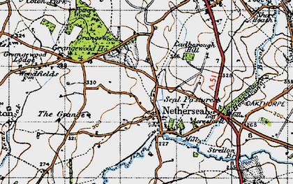 Old map of Acresford in 1946
