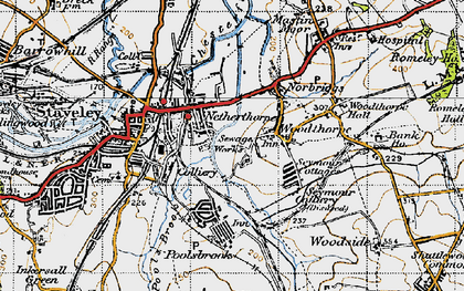 Old map of Netherthorpe in 1947