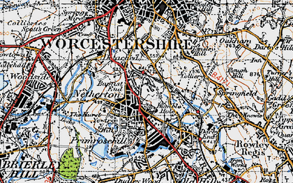 Old map of Netherton in 1946
