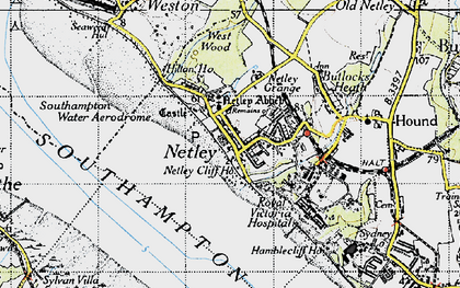 Old map of Netley in 1945
